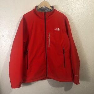 The North Face red windwall jacket size XXL